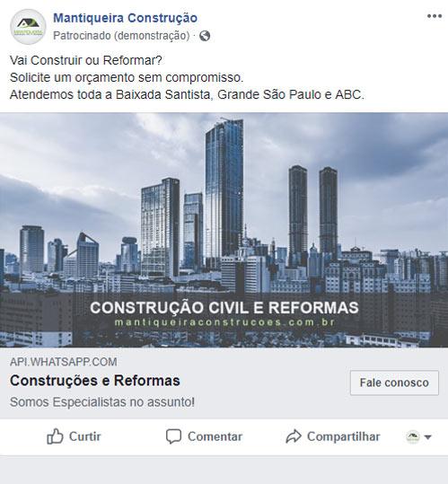 Anúncios no Facebook e Instagram