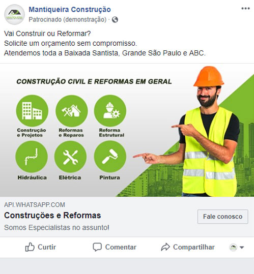 Criação de Anúncio no Facebook