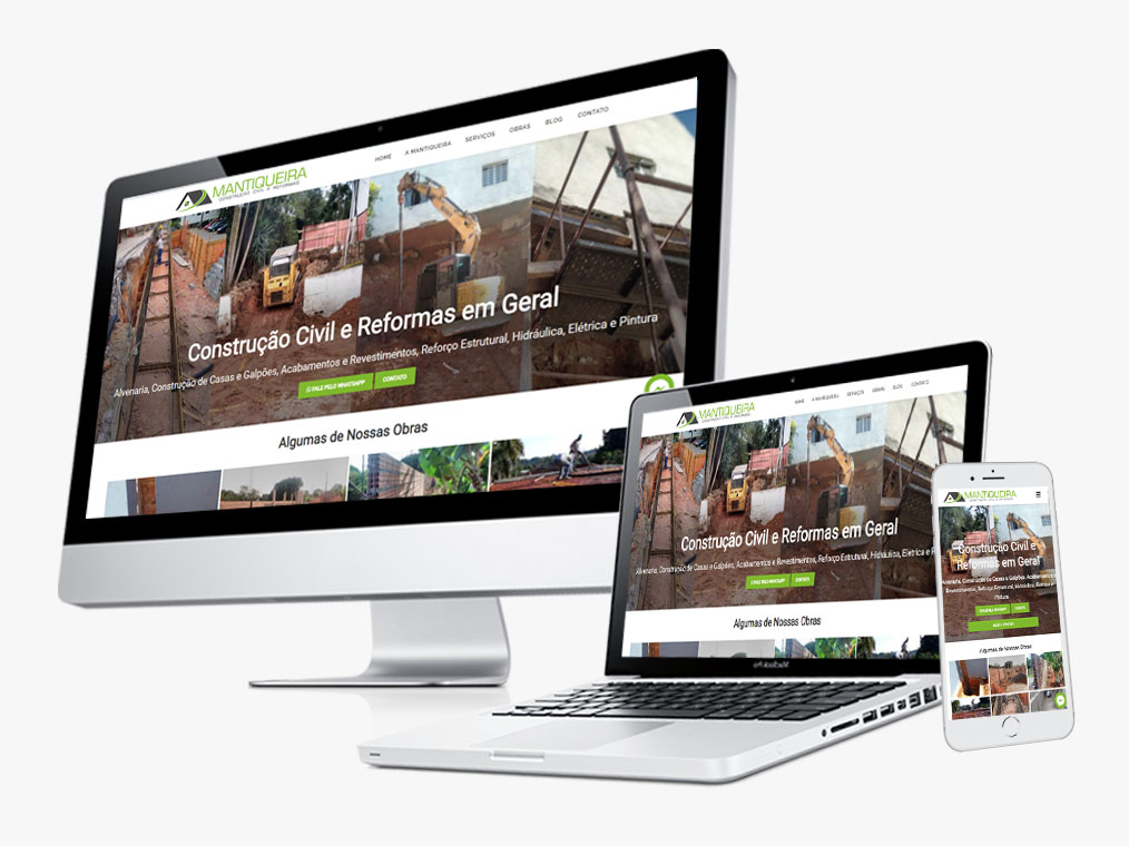 Criação de Site Mantiqueira Construções