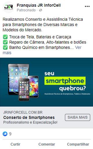 anuncio facebook smartphone
