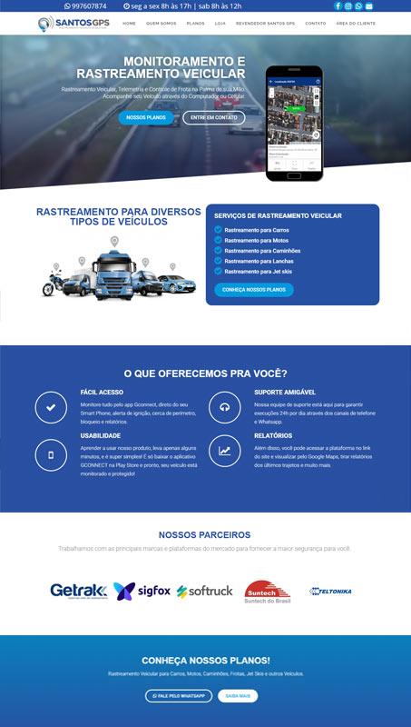 Criação do site Santos GPS