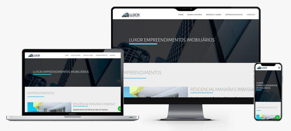 Desenvolvimento de site Luxor Construtora