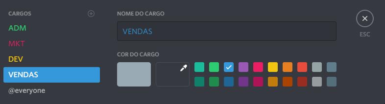 Discord - Cargos de Membros